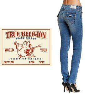True Religion Slim Straight Jeans - Size 26